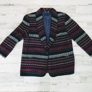 Vintage 80s 90s Oversized Western Blazer Coat